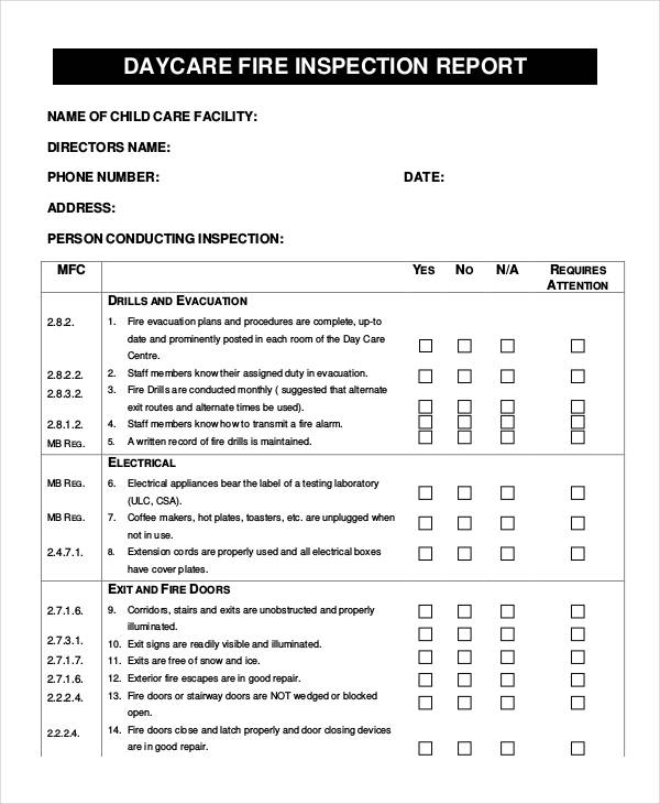 Inspection Report Examples