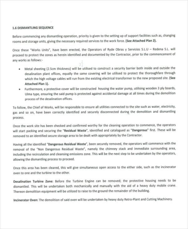 demolition method statement