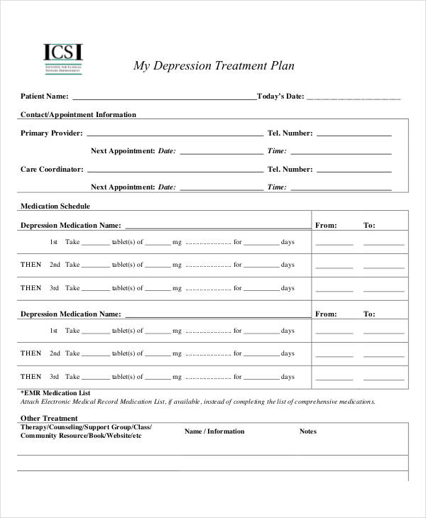 27+ Treatment Plan Examples in Google Docs | MS Word ...