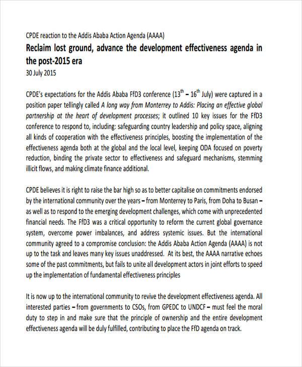 development effectiveness