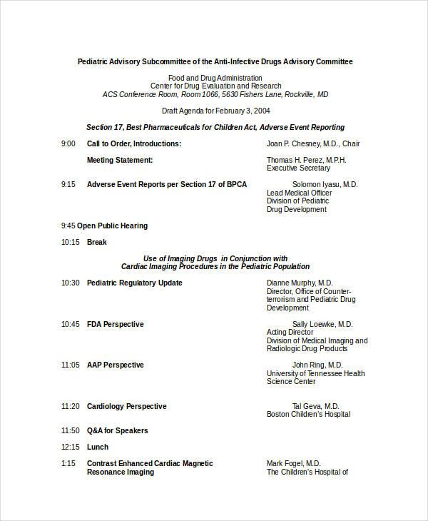 draft agenda in doc