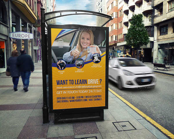 driving school advertising banner
