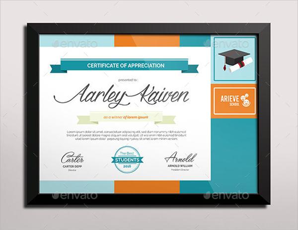 education certificate