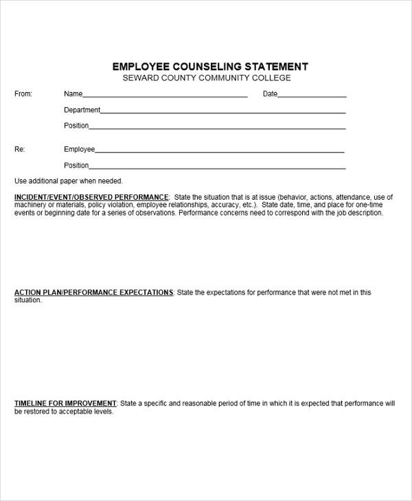 employee counseling