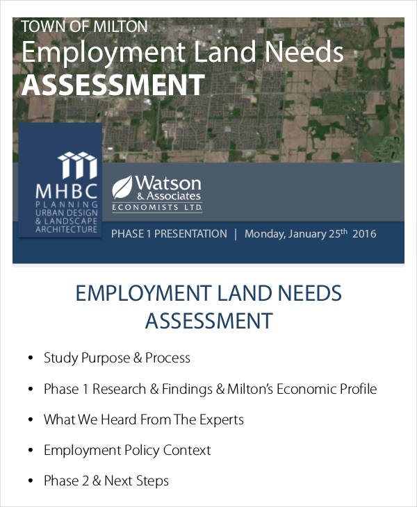 employment land needs example