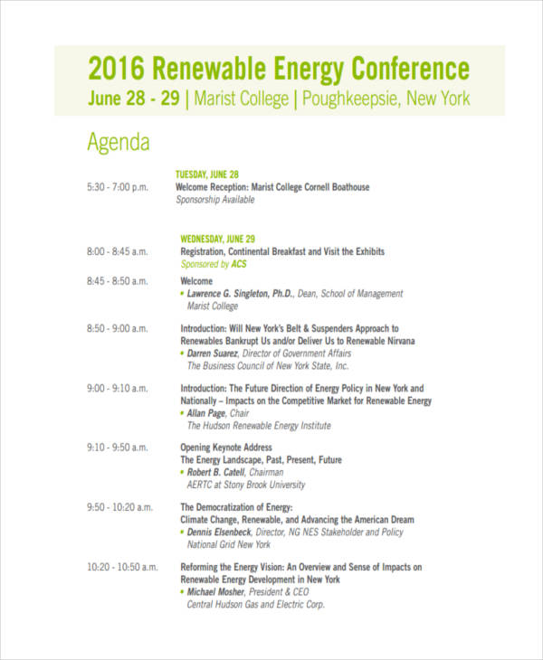 energy conference agenda