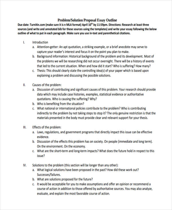 of proposals essay proposal outline - Proposal Outline