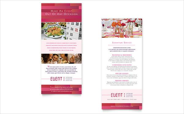 event planning rack card