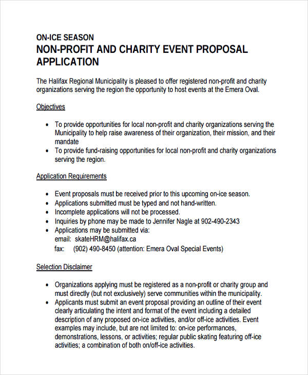 6 NonProfit Proposal Examples Samples