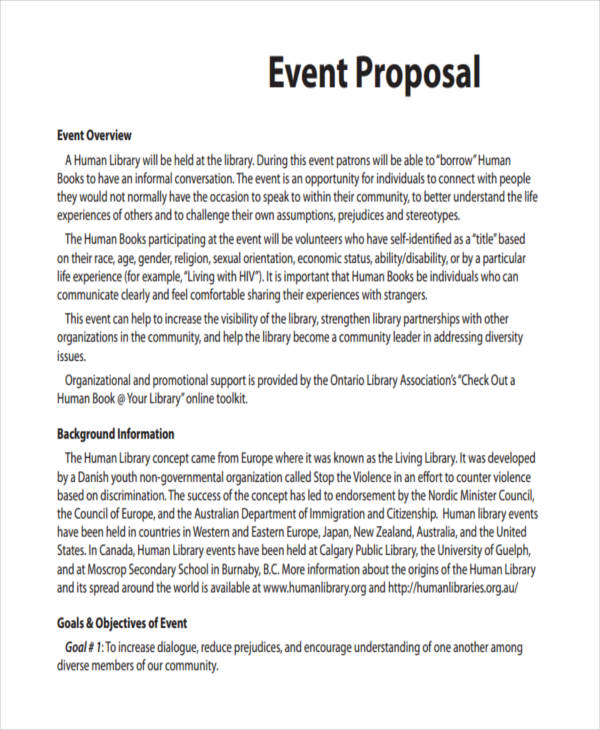 event proposal format