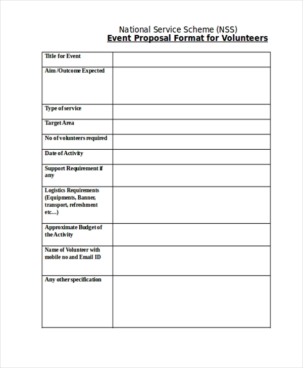 event proposal format2