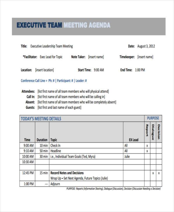 executive agenda1
