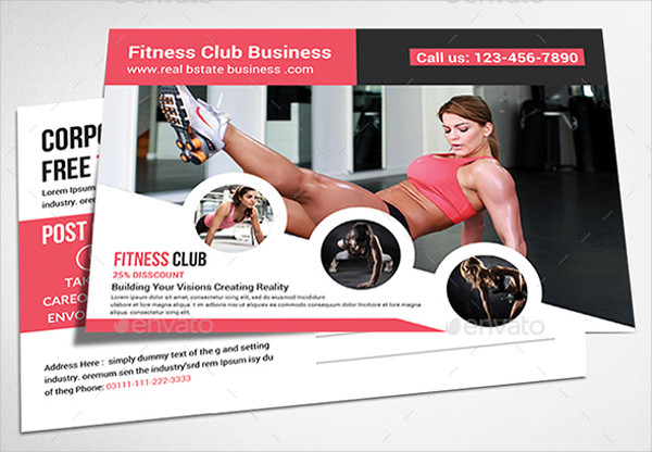 Fitness Advertising Postcard