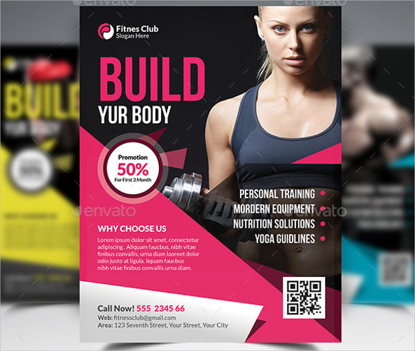 fitness club advertisement design