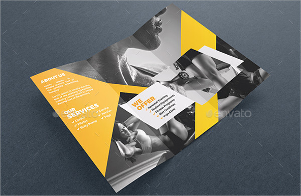 fitness club brochure