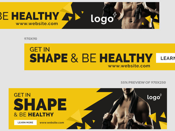 fitness gym advertisement design