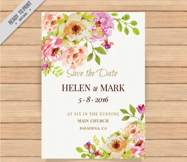 -Floral Wedding Invitation