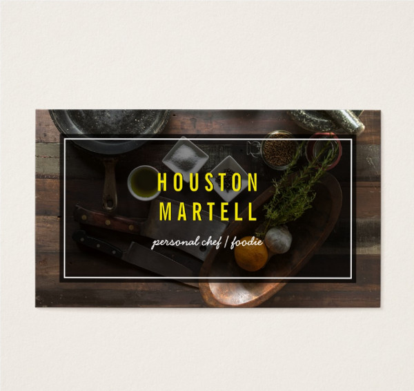 Food Business Name Card