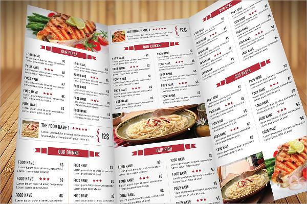 Food Catering Menu Design