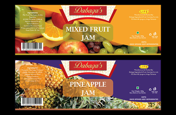 -Food Product Label Design