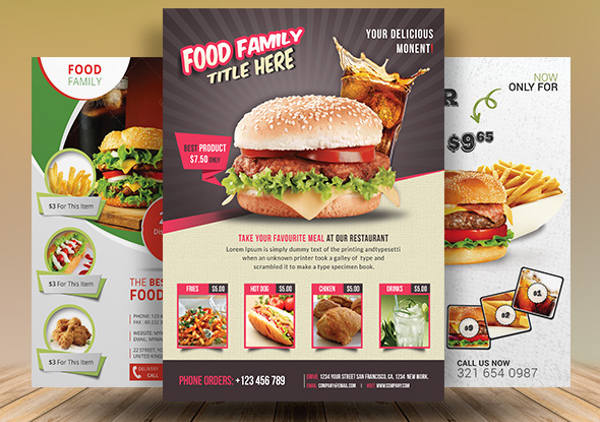 food promotion advertising design
