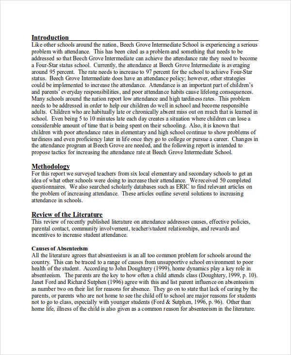 Formal Recommendation Report  Formal Report Format Sample