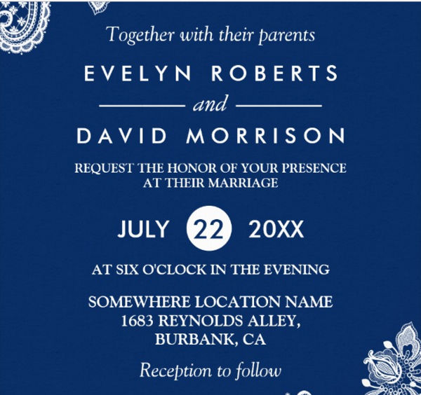 -Formal Wedding Invitation