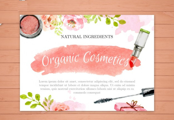 free cosmetics advertising flyer