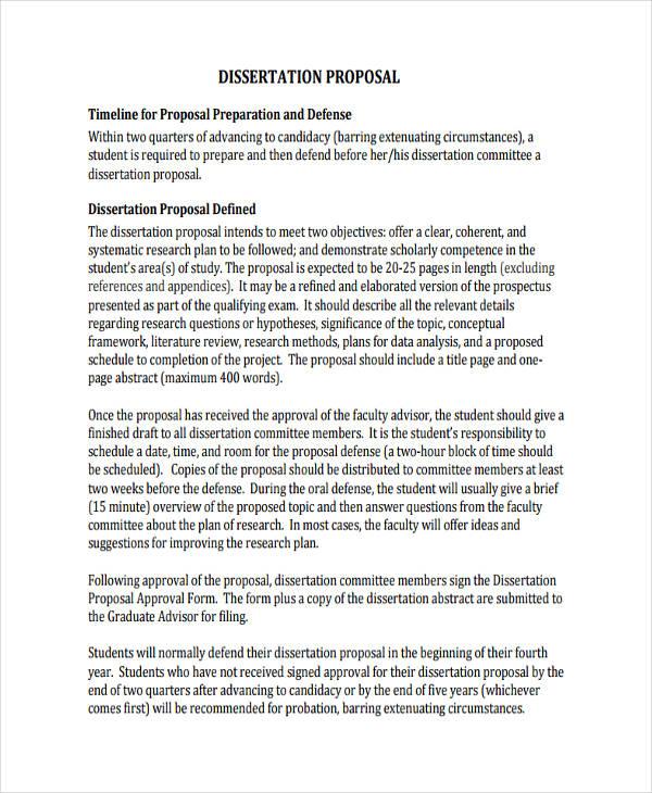 free dissertation proposal