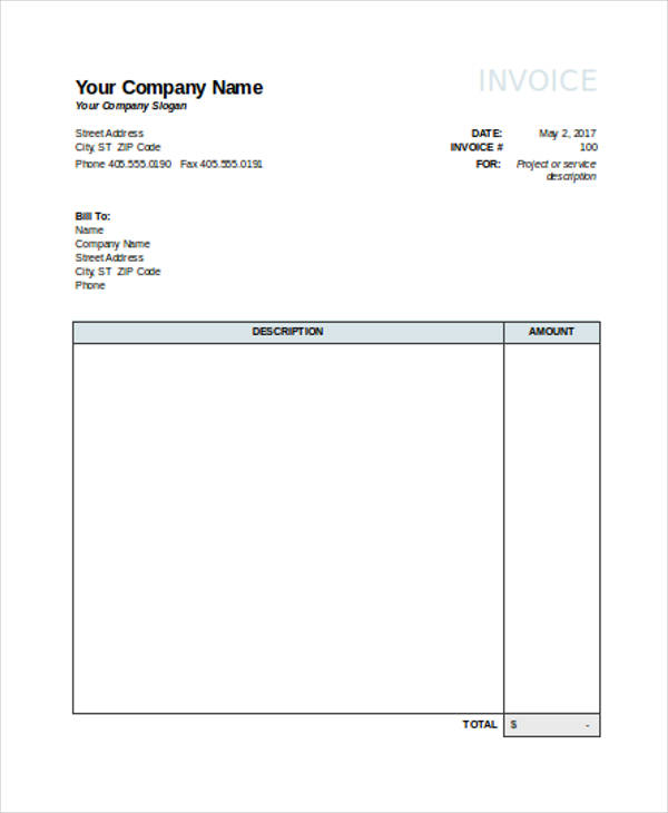 22 invoice examples samples in excel