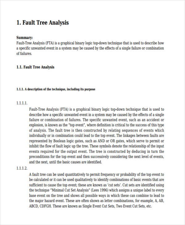 free fault tree analysis