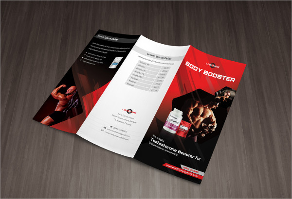 Examples Of Fitness Brochure Design  Psd Ai Indesign Vector Eps
