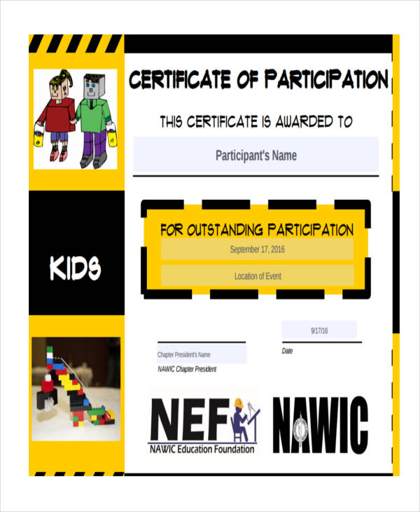 27 award certificate examples samples free kids award certificate example yelopaper Choice Image