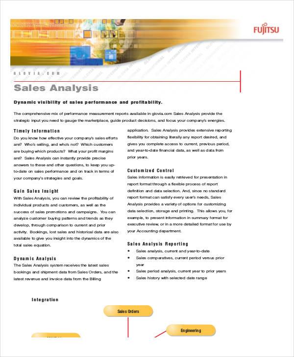 free sales analysis