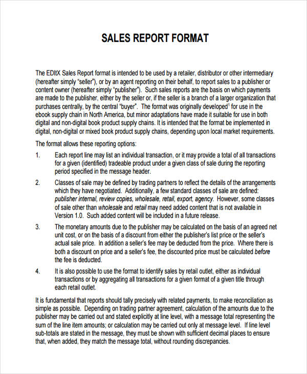 free 37  sales report examples  u0026 samples in pdf
