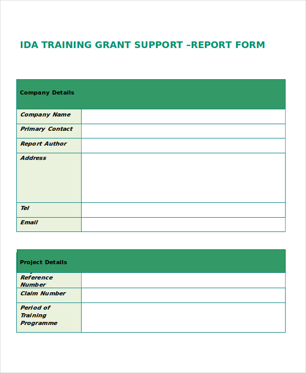 37 Examples of Free Reports – Training Report