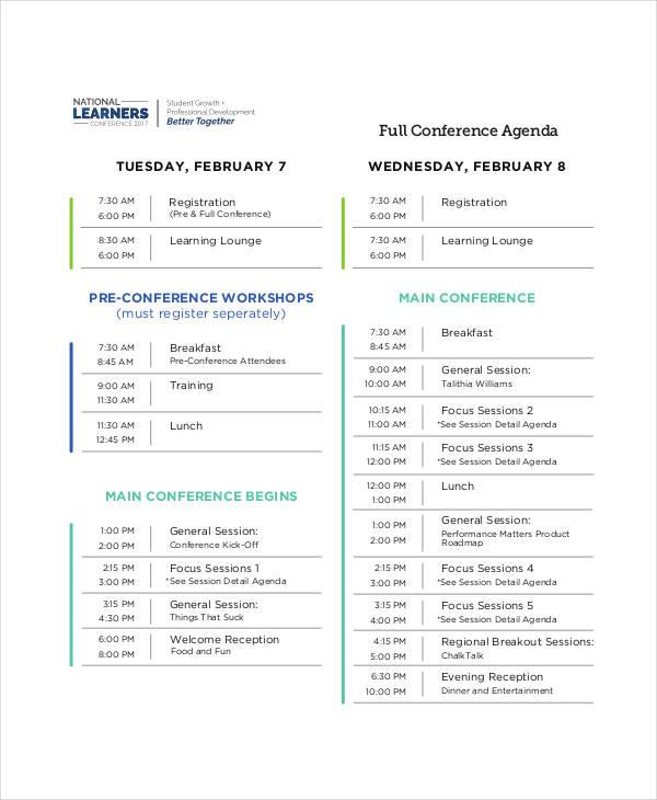 full conference agenda