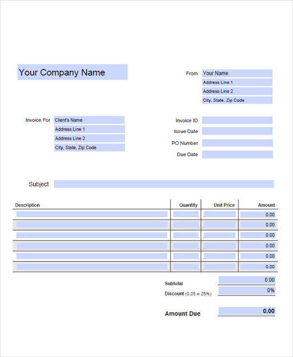 generic business invoice