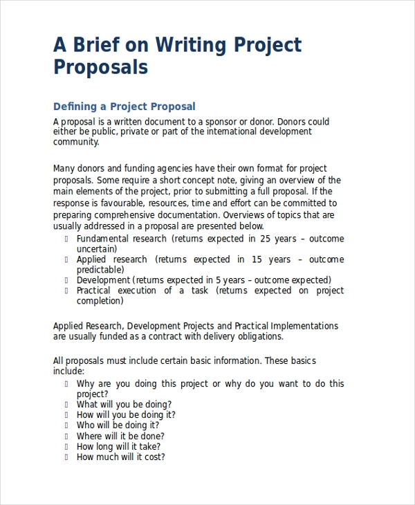 generic project proposal1