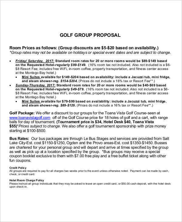 golf group proposal1
