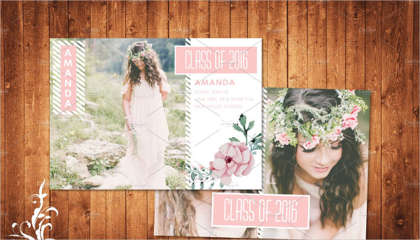 Graduation Announcement Postcard