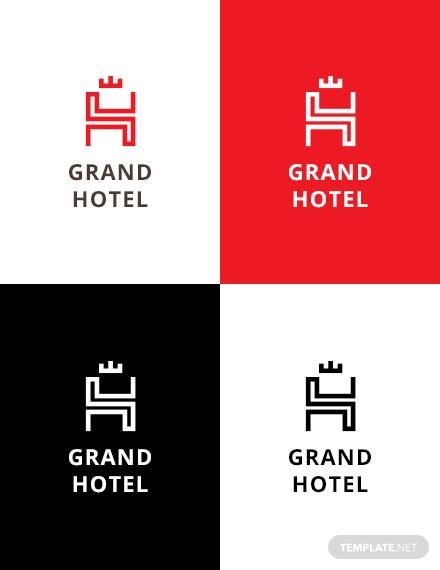 grand hotel logo template