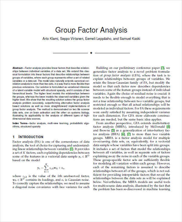 group factor