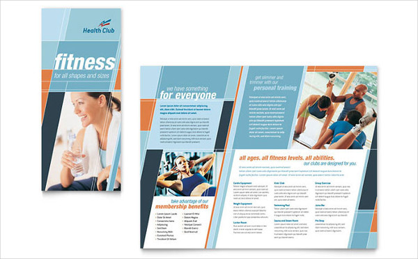 health fitness gym brochure
