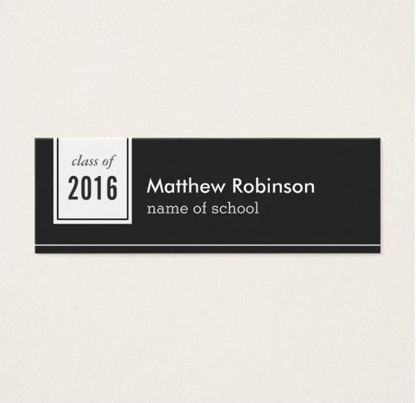 High School Graduation Name Card