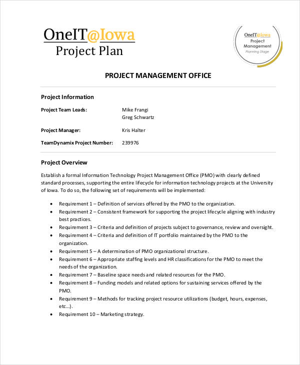 it project plan