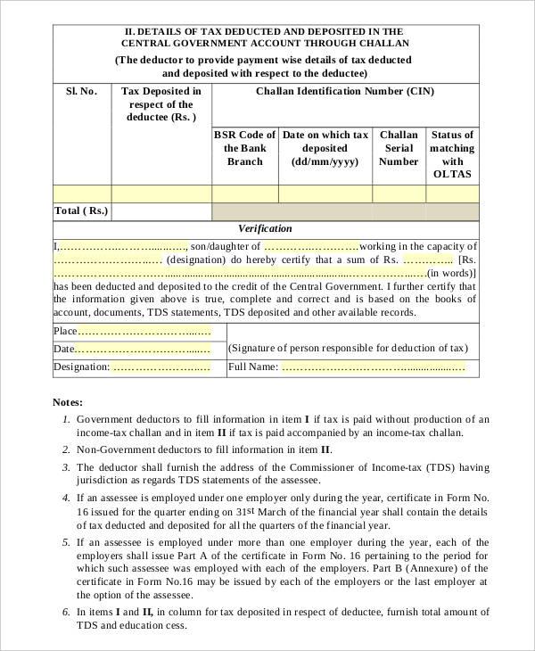 income tax statement