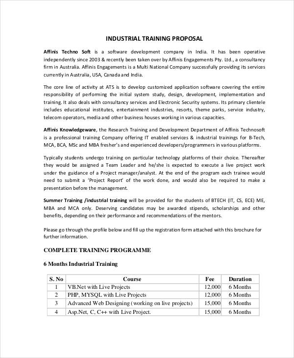 industrial training proposal1