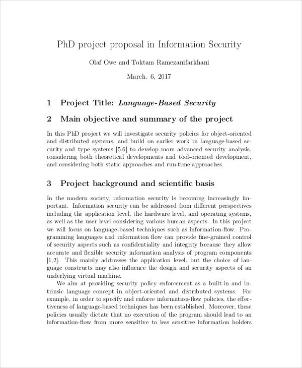 10 security proposal examples samples