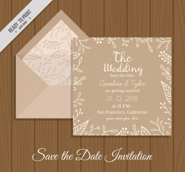 invitation envelope vector